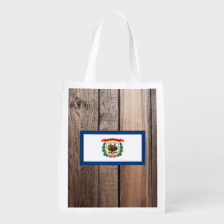 National Flag of West Virginia Grocery Bags
