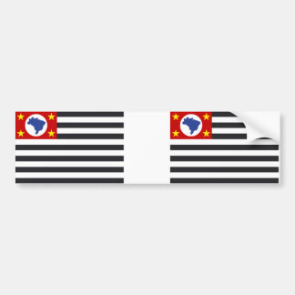 National flag Sao Paulo Bumper Sticker