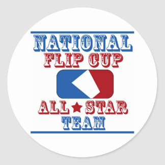 national flip cup champion classic round sticker