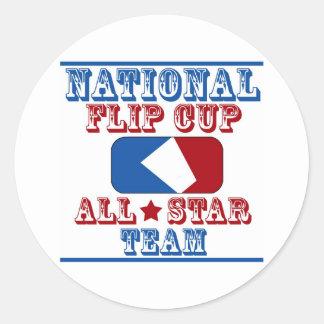 national flip cup champion classic round sticker