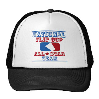 national flip cup champion mesh hats