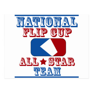 national flip cup champion postcard