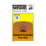 National Fruitcake Toss Day! Briefmarke