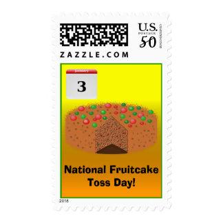National Fruitcake Toss Day! Postage