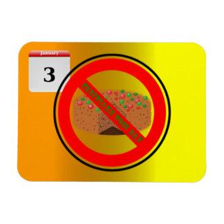 National Fruitcake Toss Day! Vinyl Magnets
