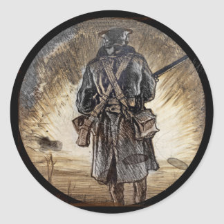 National Fundraiser for Welsh Troops Classic Round Sticker