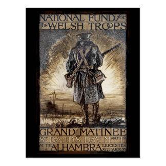 National Fundraiser for Welsh Troops Postcard