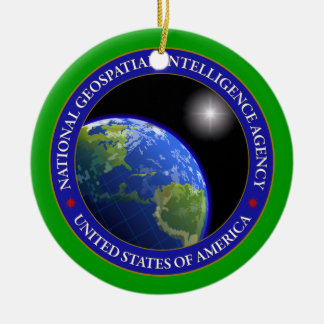 National Geospatial-Intelligence Agency Custom Double-Sided Ceramic Round Christmas Ornament