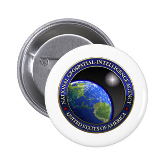 National Geospatial-Intelligence Agency (NGA) 2 Inch Round Button