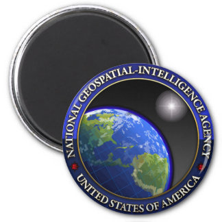 National Geospatial-Intelligence Agency (NGA) 2 Inch Round Magnet