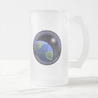 National Geospatial-Intelligence Agency (NGA) 16 Oz Frosted Glass Beer Mug