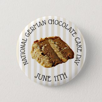 National German Chocolate Cake Day Button