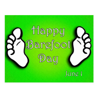 National Go Barefoot Day June 1 Postcard