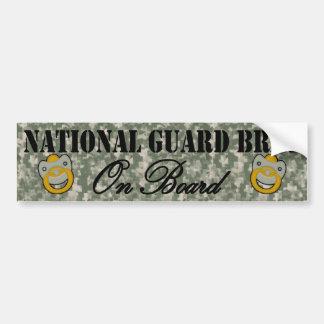 National Guard Brat On Board (Window Sticker) Bumper Sticker