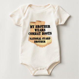 National Guard Brother wears DCB Baby Bodysuit
