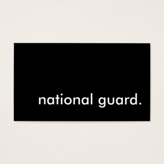 national guard. business card