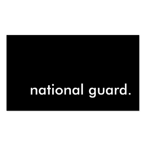 national guard. business card templates