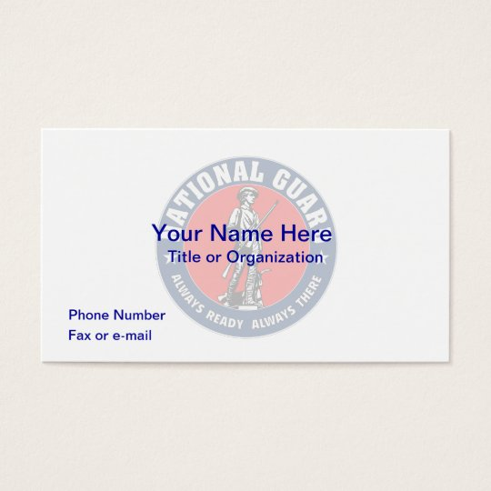National Guard Business Card