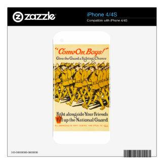 National Guard Come On Boys WWI Propaganda iPhone 4 Skin