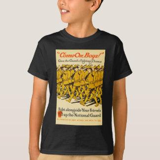 National Guard Come On Boys WWI Propaganda T-Shirt