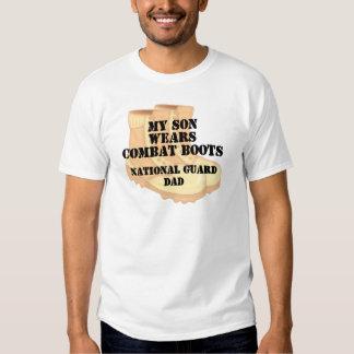 National Guard Dad Son wears DCB Tee Shirts