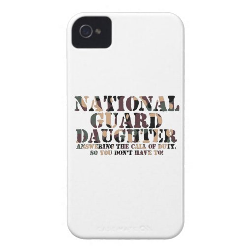 National Guard Daughter Answering Call iPhone 4 Case-Mate Cases