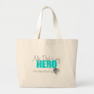 National Guard Daughter Dad is Hero Canvas Bags