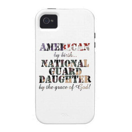 National Guard Daughter Grace of God iPhone 4/4S Cases
