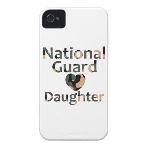 National Guard Daughter Heart Camo iPhone 4 Case-Mate Cases