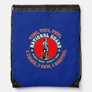 National Guard Emblem Drawstring Bags