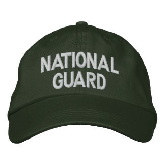 NATIONAL GUARD EMBROIDERED BASEBALL HAT