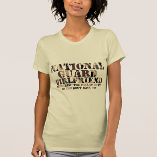 National Guard Girlfriend Answering Call T-Shirt