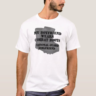 National Guard Girlfriend Combat Boots T-Shirt