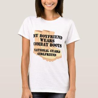 National Guard Girlfriend Desert Combat Boots T-Shirt