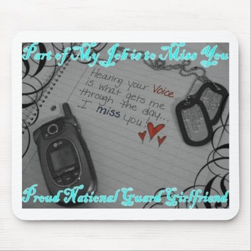 National Guard Girlfriend Mouse Pad