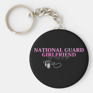 National Guard Girlfriend, my way of life Basic Round Button Keychain