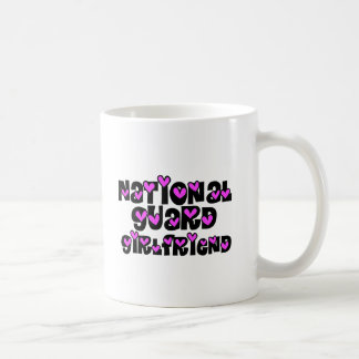 National Guard Girlfriend Pink Hearts Coffee Mug