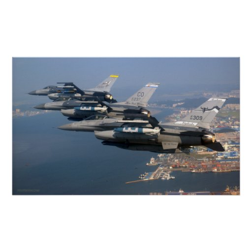 National Guard Guard F16s Poster