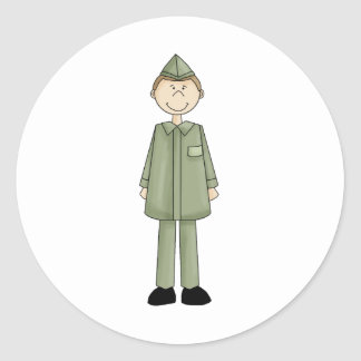 national_guard_guy classic round sticker
