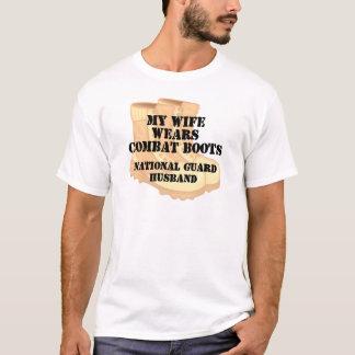 National Guard Husband Desert Combat Boots T-Shirt