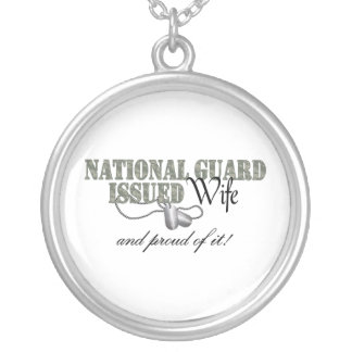 National Guard Issued Wife Round Pendant Necklace