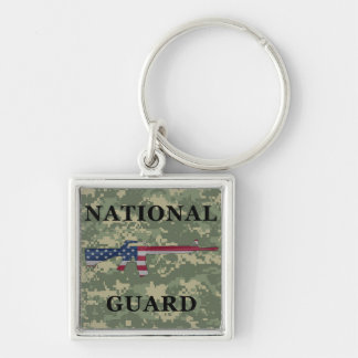 National Guard M16 Keychain Green