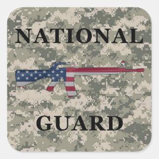 National Guard M16 Sticker ACU