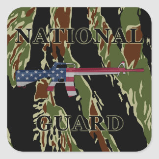 National Guard M16 Sticker Tiger Stripe
