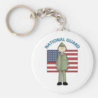 National Guard Male Customizable Basic Round Button Keychain
