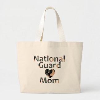 National Guard Mom Heart Camo Tote Bags