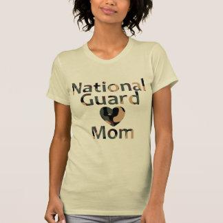 National Guard Mom Heart Camo T-Shirt