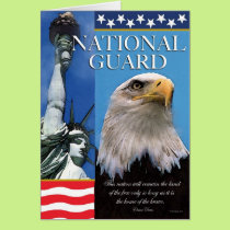National Guard Patriotic Troop Support Card