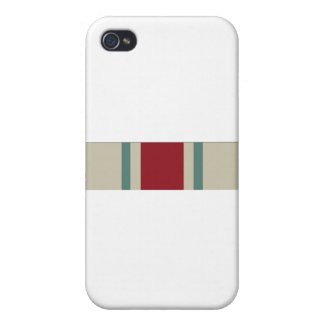 National Guard Reserve Commemorative Ribbon iPhone 4/4S Cover