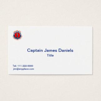 National Guard Shield Logo Business Card